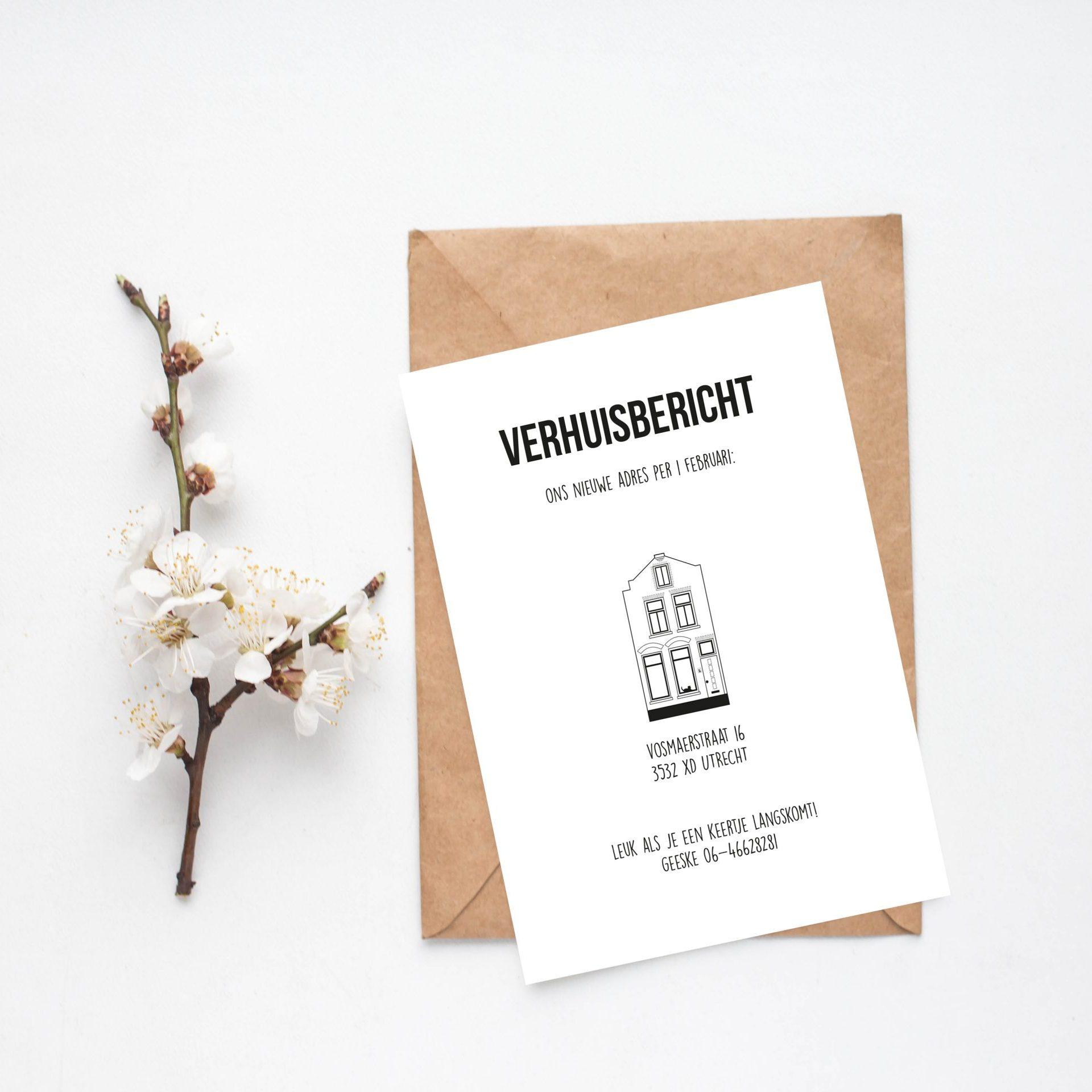 Verhuiskaart ontwerp | Studio MEEMS
