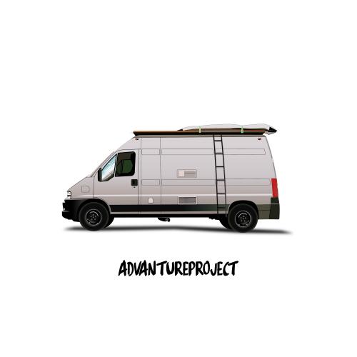 camper illustratie - Studio MEEMS