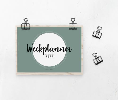weekplanner 2022 Studio MEEMS